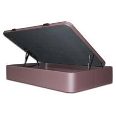 Canapé SERENA - Gran Capacidad 135 x 200 cm-Polipiel Blanco-Tapa en 3D (+0 €)-