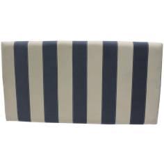 Cabecero Niza 136 x 70 cm en Tela Azul y Crudo con costura de hilo Blanco OFERTON