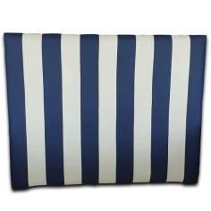 Cabecero Niza largo Azul y Blanco 151x125 OFERTON
