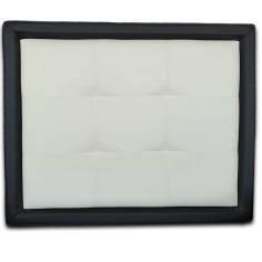 Cabecero Tablet Corto Blanco con Marco Corto Negro